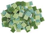 Mosaik-Glassteine, 200 g grün-mix    (10 x 10 mm)