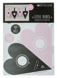 Kit creativo - DIY  little hearts rose,  6 bolsas