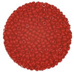Rocailles opak (2,6 mm), 20 g karminrot