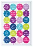 Sticker set 'Greetings', A4, 24 stuks, kleurrijk