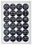 Aufkleber-Set, 24 Stück Greetings schwarz/weiß