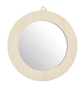 Spiegel mit holzrahmen zum h ngen 13 cm opitec for Spiegel entsorgen