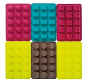 Lote de  moldes de silicona, para masas de moldear