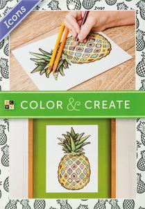Bloc de dibujo Color & Create - Iconos, 65 hojas