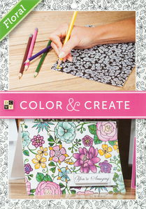 Cartes de coloriage Color & Create -Floral...