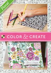 Bloc de dibujo 'Color & Create' - Floral