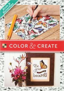 Kleurboek 'Birds & Butterflies, 65 vel