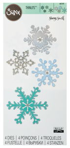 Sizzix® Thinlits[TM] Die Set 4PK - Snowflake