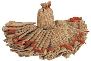Jute Bag, set of 24 natural (7 x 10 cm)