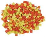 Mosaiksteine, 200 g gelb/orange-mix      (10x10mm)