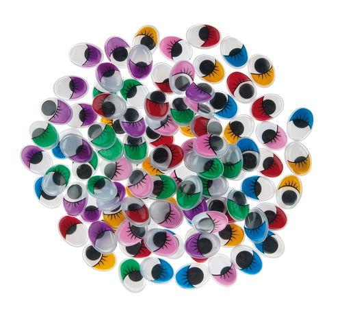 Occhi mobili ovali colorati 16x12 mm 100 pezzi opitec - Pomelli colorati per mobili ...