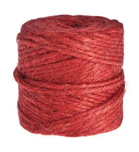Natural Jute Yarn , 55 - 60 m, red