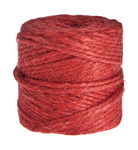 Natural Jute Yarn , 55 - 60 m, red