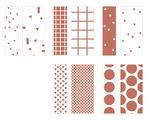 Fröbelsterne-Set Graphic weiß/rosegold, 40Streifen
