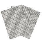 Carta Paper Patch, zig zag argento/bianco Hotfoil