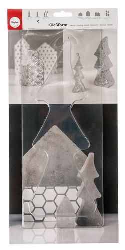 Motivgröße 5,5 x 7,5 x 1,7 cm Gießform Tannenbaum