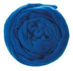 Schaf-Schurwolle Kammzug, 50 g dunkelblau