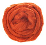 Sheep's Wool - Combed, orange red