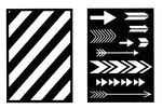 Mascherine - strisce & frecce