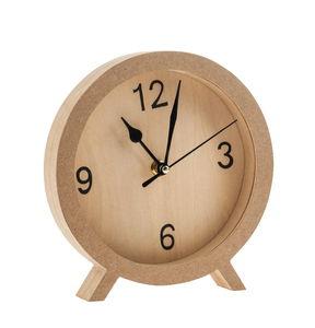 Holz-Uhr    (18,5 x 19 cm)