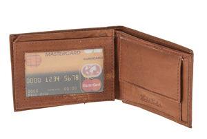 Cartera de cuero (100 x 75 mm) marrón