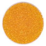 Rocailles transparent (2,6 mm), 20 g sonnengelb