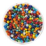 Mix-Rocailles, colori assortiti opachi, 20g