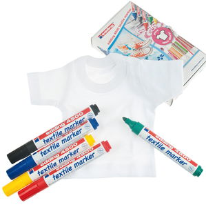 edding 4500 textielstiften incl. mini T-shirt