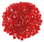 Mosaik-Glassteine, 300 Stück rot     (10 x 10 mm)