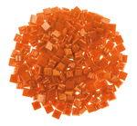 Mosaik-Glassteine, 300 Stück orange  (10 x 10 mm)