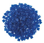 Mosaik-Glassteine, 300 Stück royalblau(10 x 10 mm)