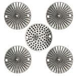 Metallzwischenteil, 5 Stück rund (ø 20 mm)