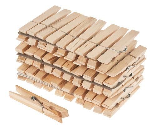Mollette di legno, 70/9mm, 50 pezzi - Opitec