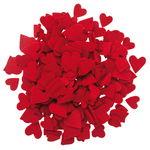 Corazones de fieltro troquelado, 280 ud, rojo