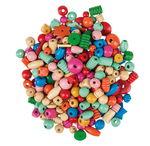 Perline di legno, 2ª scelta, ca. 250 g, colorate