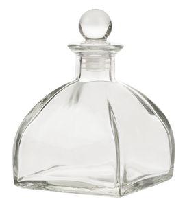 Flacone di vetro, 1 pezzo (9 x 9 x 13,5 cm)