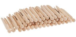 Mollette di legno rotonde, 50 pezzi