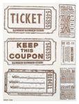 Sello de silicona 'Tickets', (15 x 20 cm)