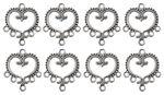 Metal pendant - Heart, size: 19 x 21 ...,