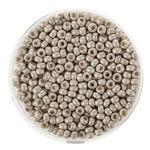 Rocailles metallic (2,6 mm), 17 g silber matt