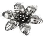Metallanhänger, Blume antiksilber (44 x 50 mm)