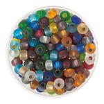 Rocailles-mix, (4,5mm),17 g, colorato trasparente