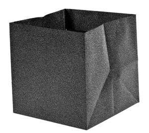 Borsa con glitter, grigio scuro, 110x110x110 mm