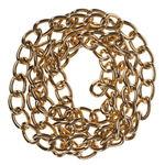 Metall-Gliederkette, 1 m goldfarben (12 mm)