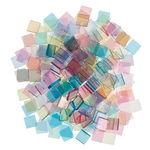Acryl-Mosaik, 205 Stück pastell (10 x 10 mm)
