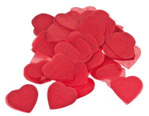 Coriandoli di carta - cuori, 25g, rosso