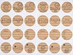 Papieren sticker 'Gelukwensen',24 motieven,2 vel