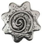 Metall-Zierelement, platinfarben (40 mm)