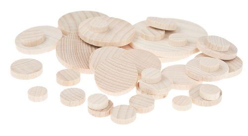 Dischi di legno assortiti 35 pezzi opitec for Dischi di legno