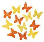 Houten strooidelen 'Vlinders', set 24 stuks